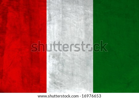 Grunge Flag of Italy. Full collection European flags.