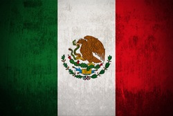 Grunge Flag Of Mexico