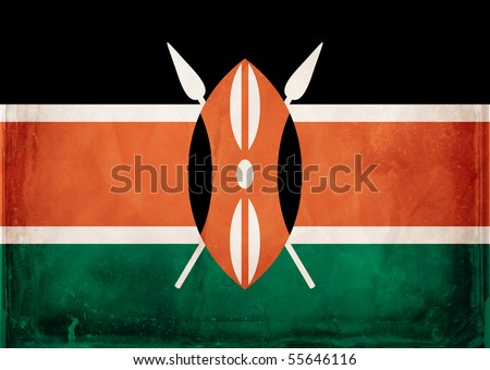 Grunge flag series -  Kenya