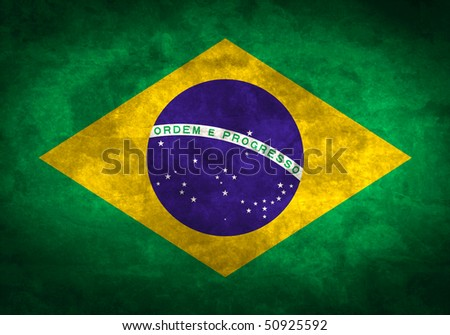 Grunge flag series of all sovereign countries - Brazil