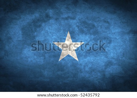 Grunge flag series of all sovereign countries - Somalia