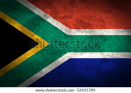 Grunge flag series of all sovereign countries - South Africa
