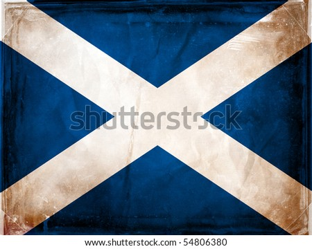 Grunge flag series -  Scotland