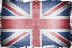 Grunge flag UK  England