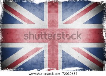 Grunge flag UK  England