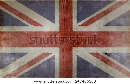 Grunge Flags of the World with textured vintage effect: UK Country #247486180