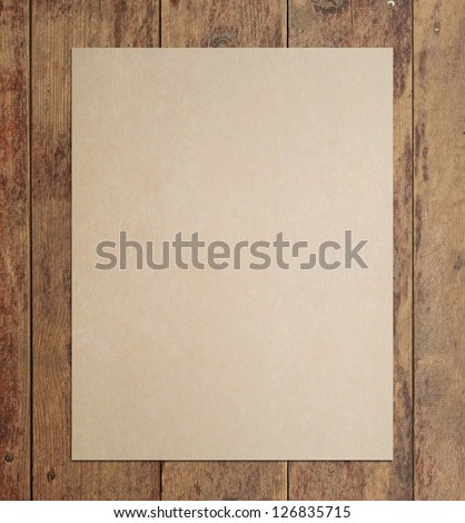 grunge floor wood texture with crafted poster