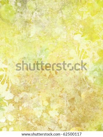 Grunge Floral Abstract