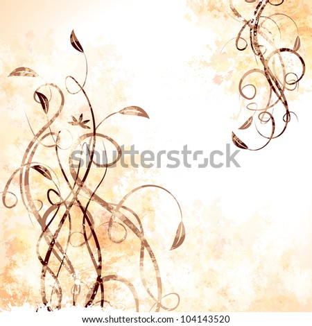 Grunge floral background. Raster version, vector file ID: 101281978