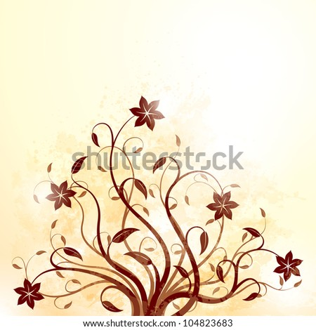 Grunge floral background. Raster version, Vector file id: 102906791