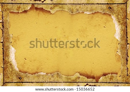 Grunge frame of an old wooden table - stock photo