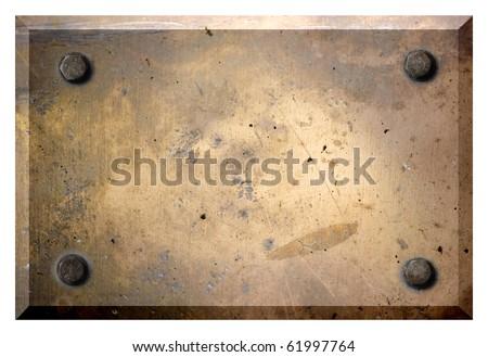 grunge frame, screws, metal background