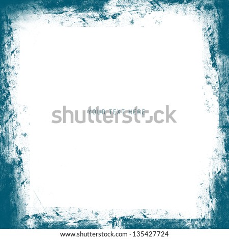 Grunge Frame With White Space