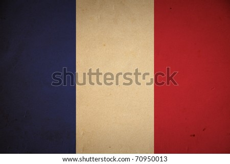 Grunge French flag background.