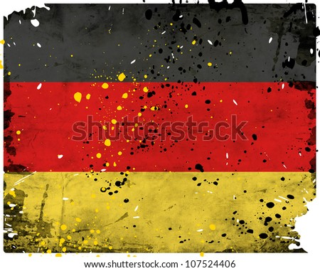 Grunge Germany flag with stains - flag series