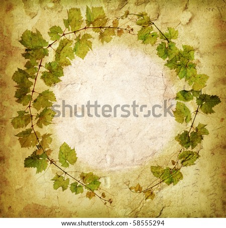 Grunge grapevine circle border