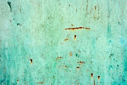 Grunge green iron texture background, metal background with scratches. Dirty green metal plate texture for background
