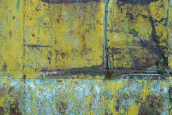 grunge green-yellow old dirty abstract Background. Oxidized Metal blue-green Copper Patina and iron oxide texture. Rusty iron metal texture surface. background for web design and wallpaper.