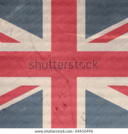 Grunge illustration of the Union Jack flag of the UK