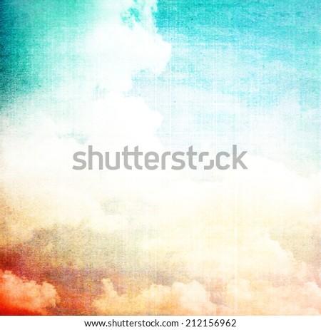grunge image of blue sky...