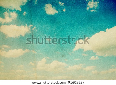 grunge image of blue sky with...