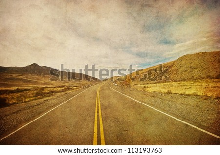 grunge image of highway and...