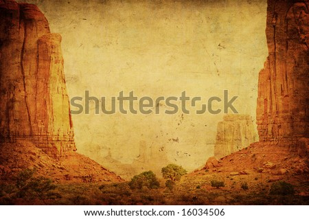 grunge image of monument valley ...