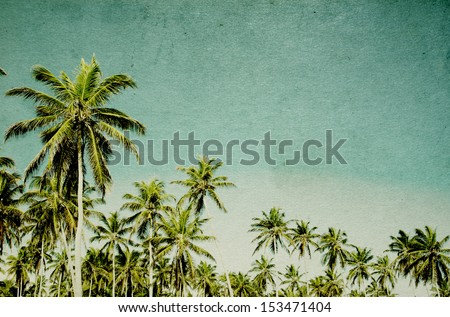 grunge image of tropical beach #153471404