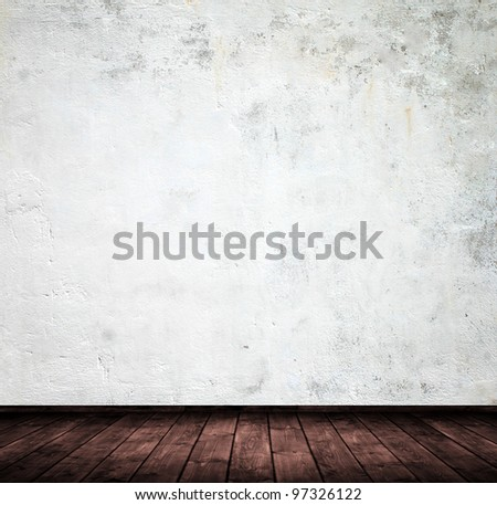 grunge interior used as background.