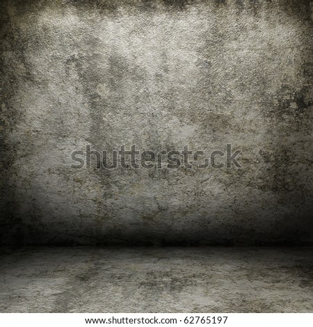 Grunge interior with empty space