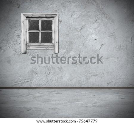 grunge interior with window