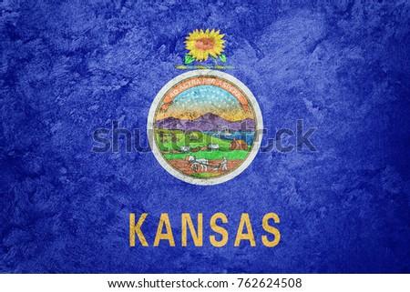 grunge kansas state flag....