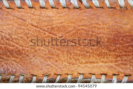 grunge Leather brown background. - stock photo