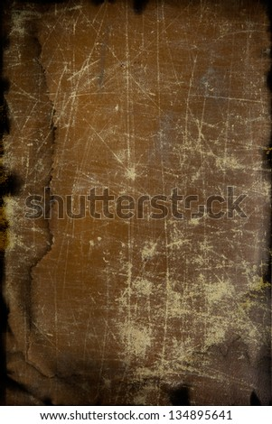Grunge leather texture background with water damage, grain added