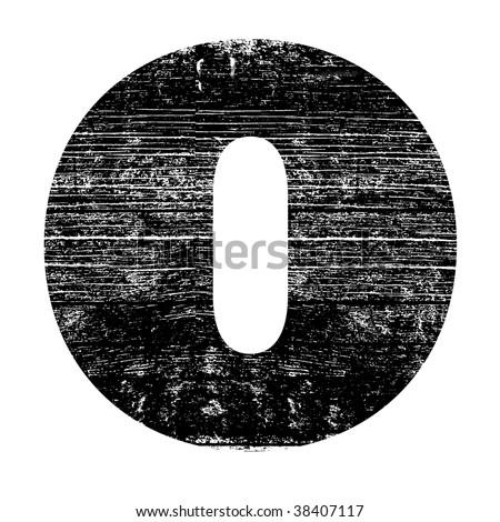 Grunge Letter O ...O Design Letter