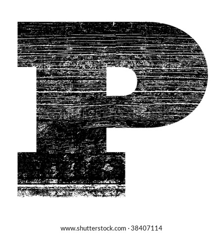 P Alphabet Design Grunge Letter P Alphabet Symbol Design Stock Photo 38407114 ...