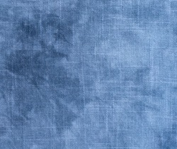 Grunge linen fabric texture for background, blue tone