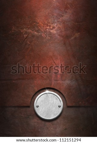 Grunge Metal Background Metallic grunge background with metal plate and bolts heads