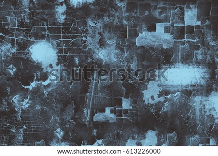 Grunge metal background, worn blue steel texture. #613226000