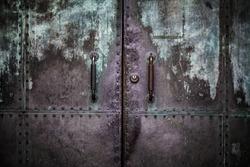 Grunge Metal Door Background