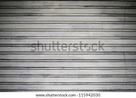 Grunge metal security roller door background