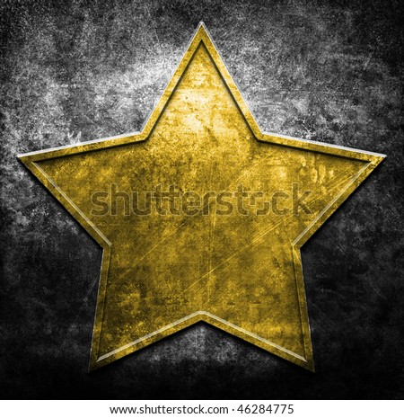 grunge metal star (in yellow and black colors)