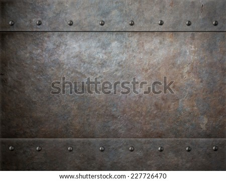 grunge metal with rivets background #227726470