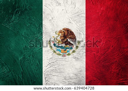 Grunge Mexico flag. Mexican flag with grunge texture. #639404728