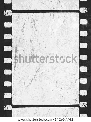 Grunge monochrome filmstrip with space for text. Raster version, vector file available in portfolio.