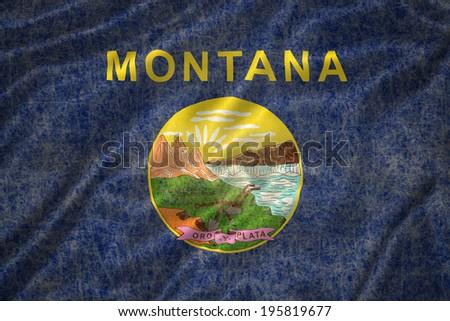 Grunge Montana state Flag