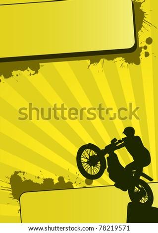 Grunge motocross sport (background, web, slyer, magazin...)