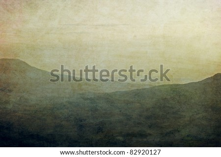 Grunge mountain background