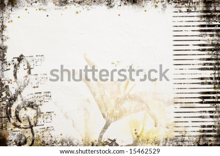 Grunge Music Background. Background series - see more in my portfolio.