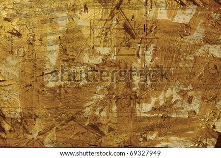 Grunge Musical Background - stock photo